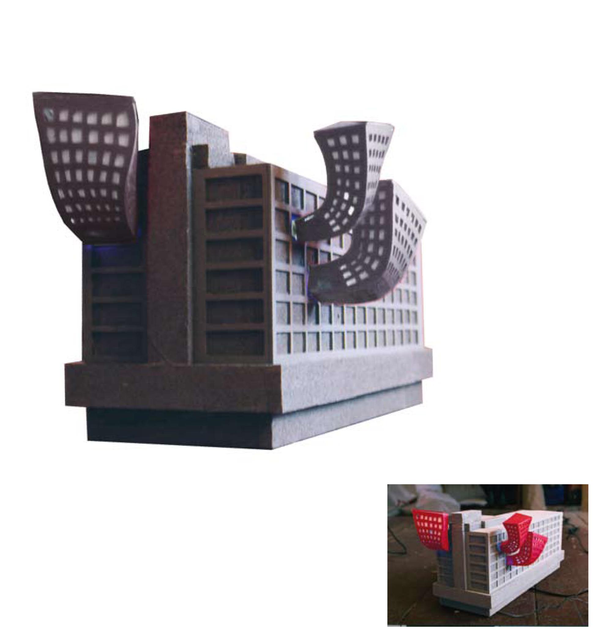 idee für zwischennutzung alexanderplatz, styrodur, 2005