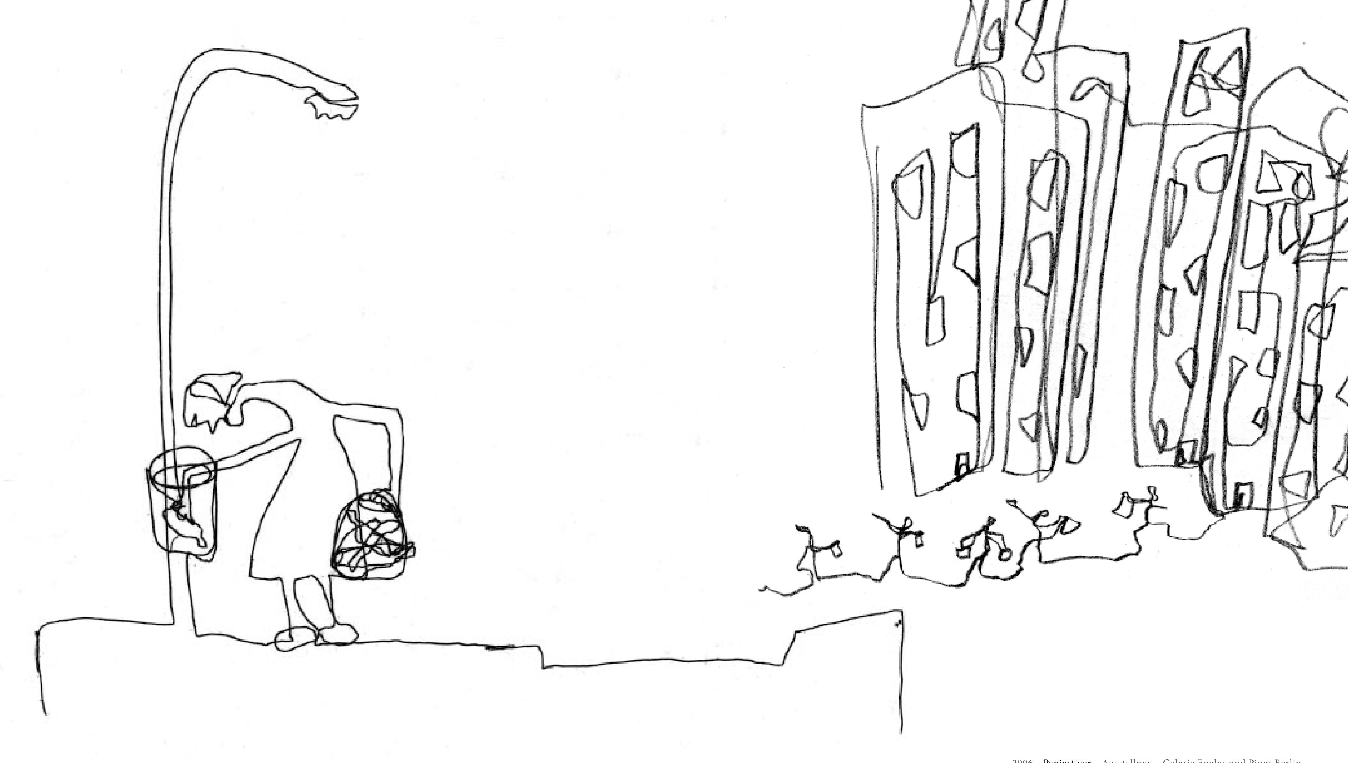 ... , Edding auf Papier, 2006
